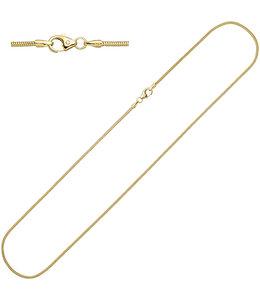 JOBO Slangenketting goud 38 cm Ø 1.4 mm