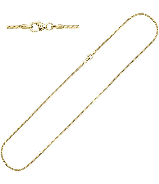 JOBO Schlangenkette 14 kt. 585 Weißgold mit einer Länge von 38 cm