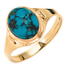 Aurora Patina Gold ring with turquoise