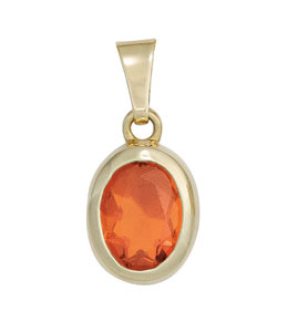 JOBO Gold Pendant Fire Opal