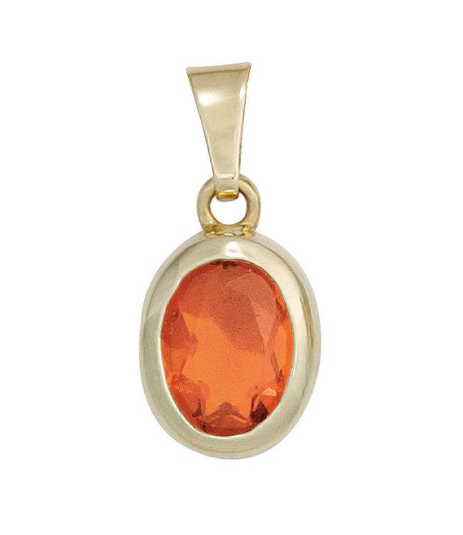 JOBO Gold pendant 14 carat (585) with a stunning Fire Opal