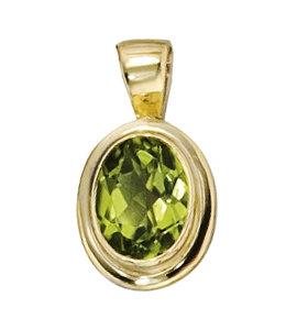 Aurora Patina Gold Pendant Peridot