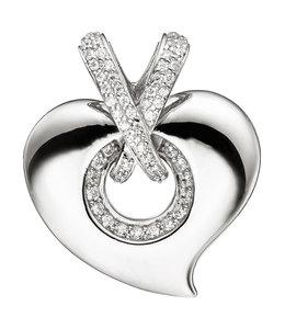 JOBO Silver pendant Heart with zirconia
