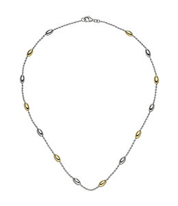 Aurora Patina Silver necklace partially gold plated 45 cm