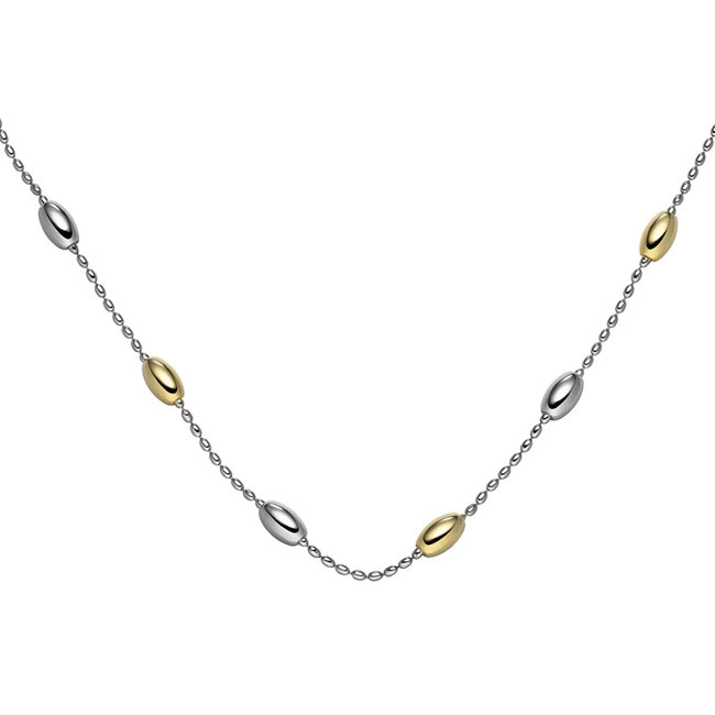 Silver necklace partially gold plated 45 cm