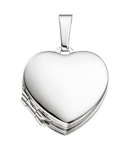 Aurora Patina Sterling silver locket Heart for 4 photos