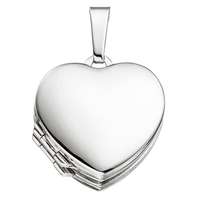 Sterling silver locket Heart gold plated for 4 photos