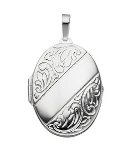 JOBO Sterling silver locket with  vintage decorations