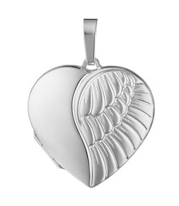 JOBO Sterling silver locket Angel matted