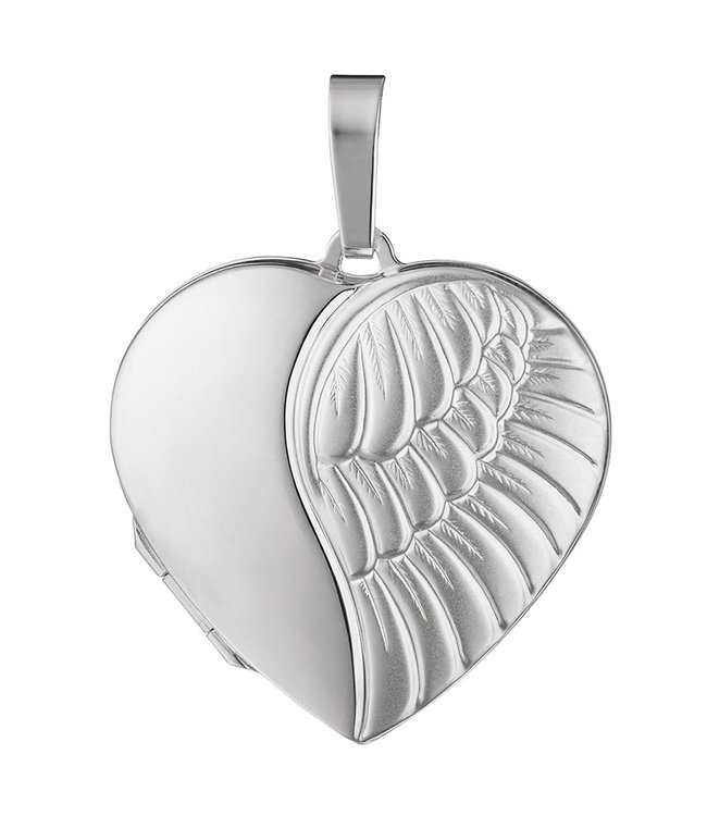 JOBO Sterling silver locket Angel matted for 2 photos