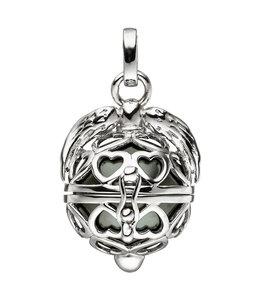 Aurora Patina Silberanhänger Schutzengel mit dunkler Perle