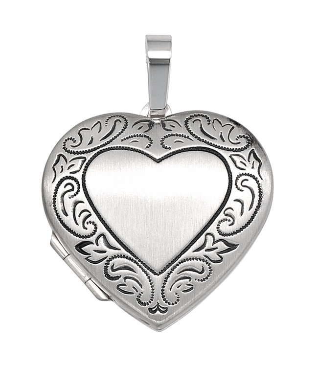 JOBO Sterling silver locket Heart for 2 photos