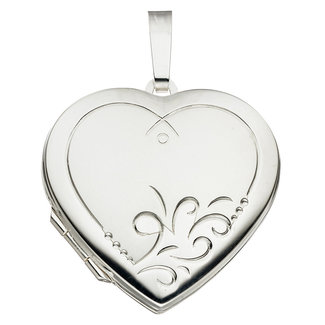 Aurora Patina Sterling silver locket Heart
