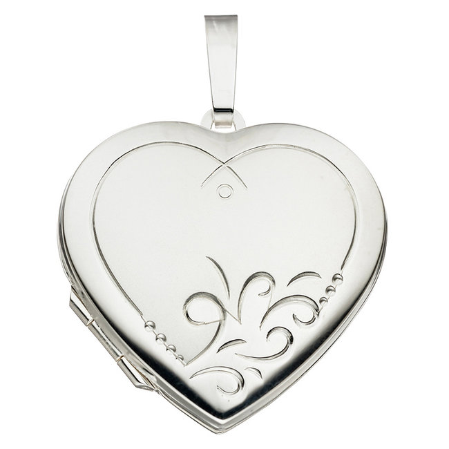 Sterling silver locket Heart for 2 photos