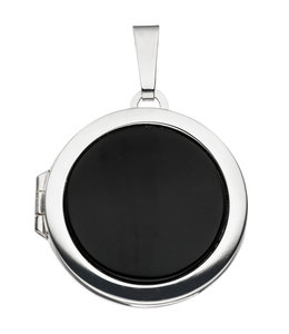 JOBO Sterling silver locket Onyx