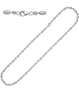Aurora Patina Silver necklace  45 cm partly matted