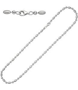 JOBO Silberne Erbskette  45 cm teilmattiert