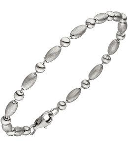 JOBO Silver bracelet 19 cm partly matted