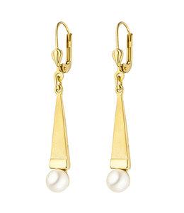 JOBO Gouden oorbellen met Akoya parels