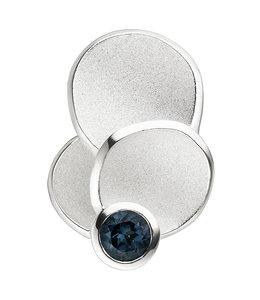 JOBO Silver pendant blue topaz London Blue