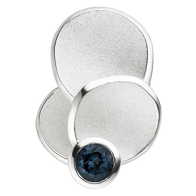 Aurora Patina Silver pendant blue topaz London Blue