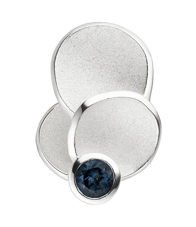 JOBO Zilveren hanger (925) blauwtopaas London Blue