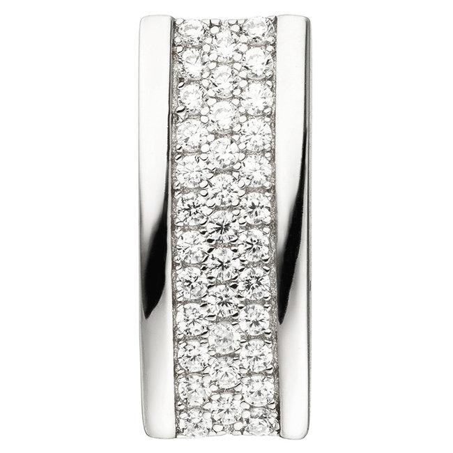 Ketting hanger in 925 sterling zilver met 35 zirkonia's
