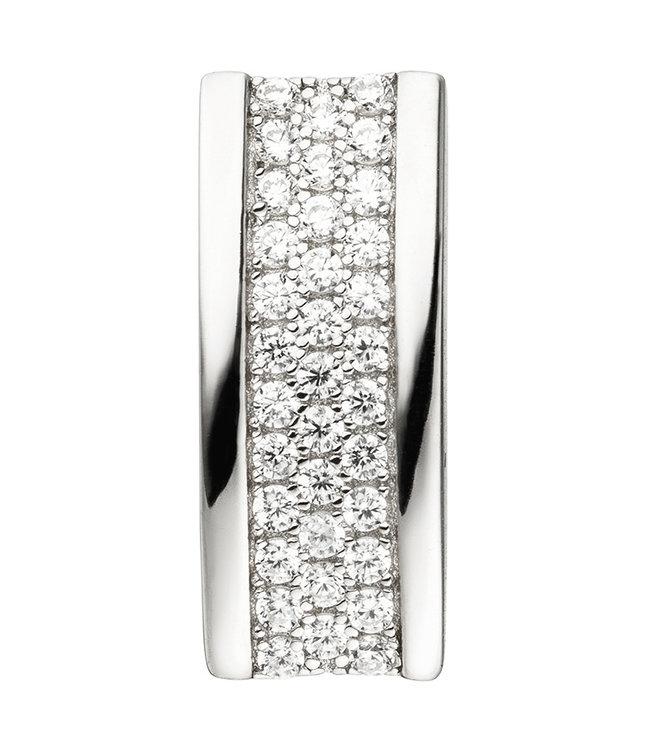 Aurora Patina Ketting hanger in 925 sterling zilver met 35 zirkonia's