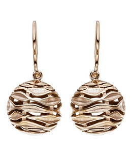 JOBO Red gold plated earrings in sterling silver