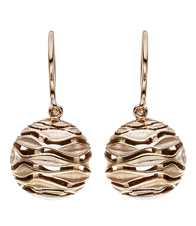JOBO Rood goud vergulde oorbellen in 925 sterling zilver