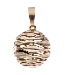 JOBO Red gold plated pendant in sterling silver