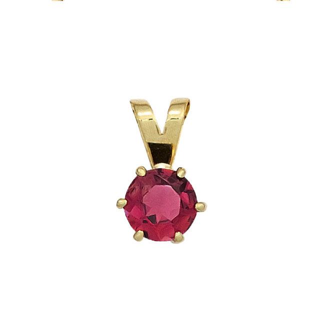 Aurora Patina Gold pendant with a pink tourmaline