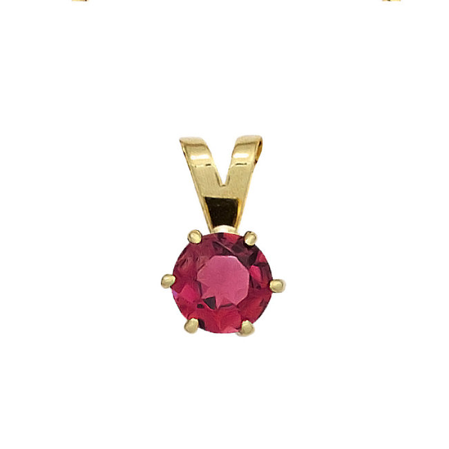 Gold pendant 14 kt. (585) with pink tourmaline