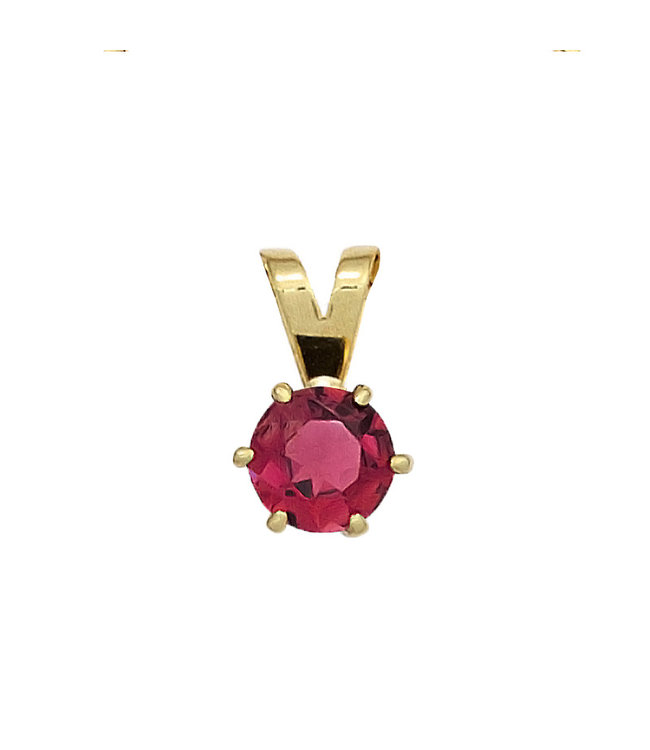 JOBO Gold pendant 14 kt. (585) with pink tourmaline
