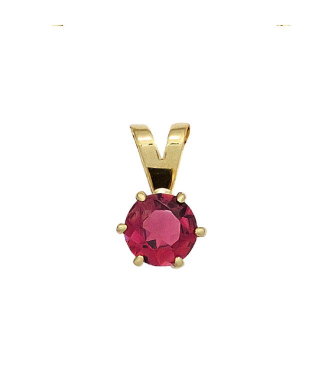 Aurora Patina Gold Anhänger 14 kt. (585) mit rosa Turmalin