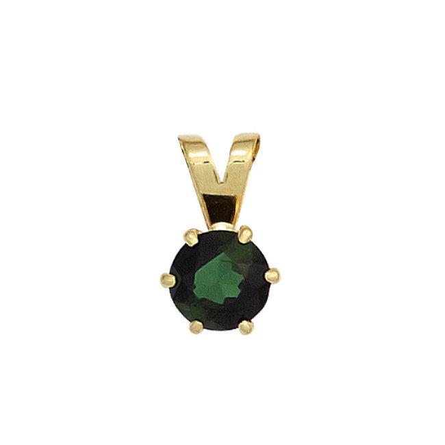 Gold Anhänger 14 kt. (585) mit grünen Turmalin