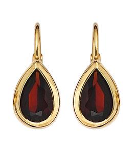 Aurora Patina Golden earrings with garnet
