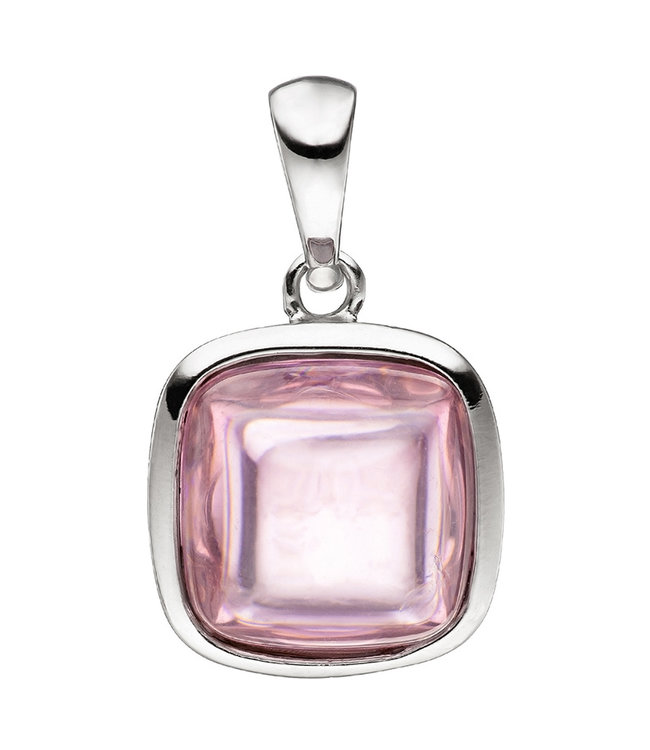 JOBO Silver pendant (925) with synthetic rose quartz