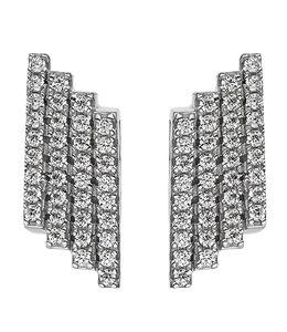 JOBO Zilveren oorstekers met 72 zirkonias
