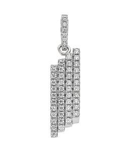 JOBO Silver pendant with 44 zirconias