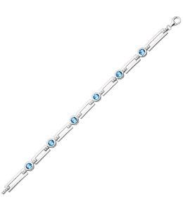 Aurora Patina Zilveren armband met zirkonia 19 cm