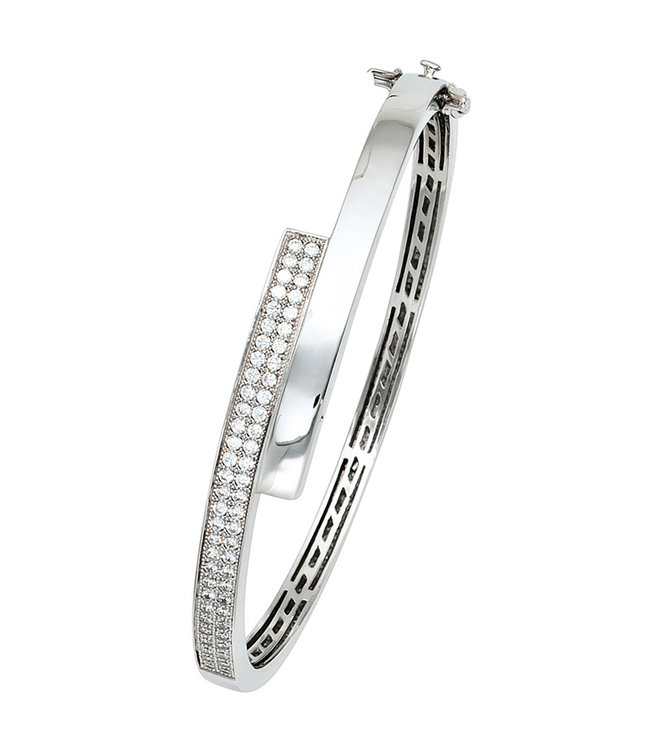 JOBO Zilveren armband met zirkonia 9 mm