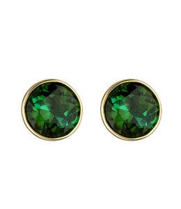 Aurora Patina Gold Ohrstecker mit 2 grünen Turmalinen