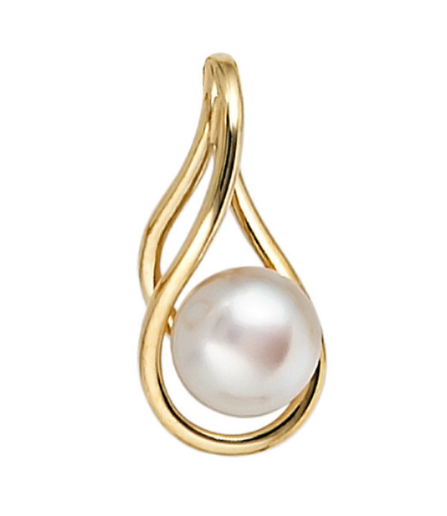 JOBO Gold pendant 14 ct (585) with freshwater pearl