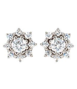 JOBO Zilveren oorstekers met zirkonias