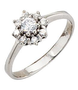 Aurora Patina Damen Ring aus Sterlingsilber mit Zirkonias