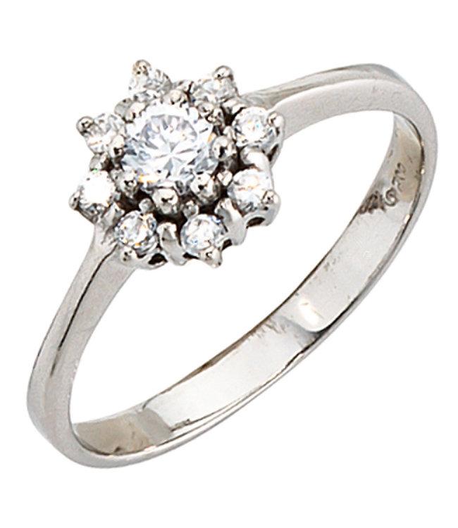 Aurora Patina Damen Ring aus Sterlingsilber (925) mit Zirkonias