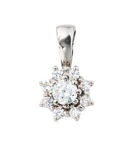 Aurora Patina Silver pendant with zirconias
