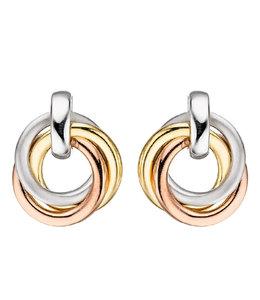 JOBO Zilveren oorbellen in drie kleuren