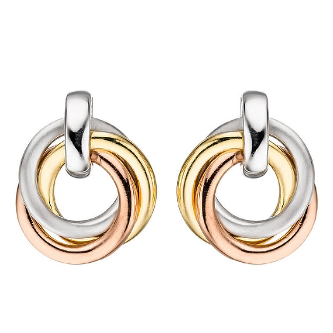 Sterling silver (925) earrings in three colours